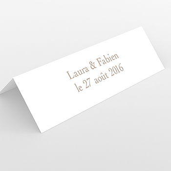 Marque-place mariage Idylle beige