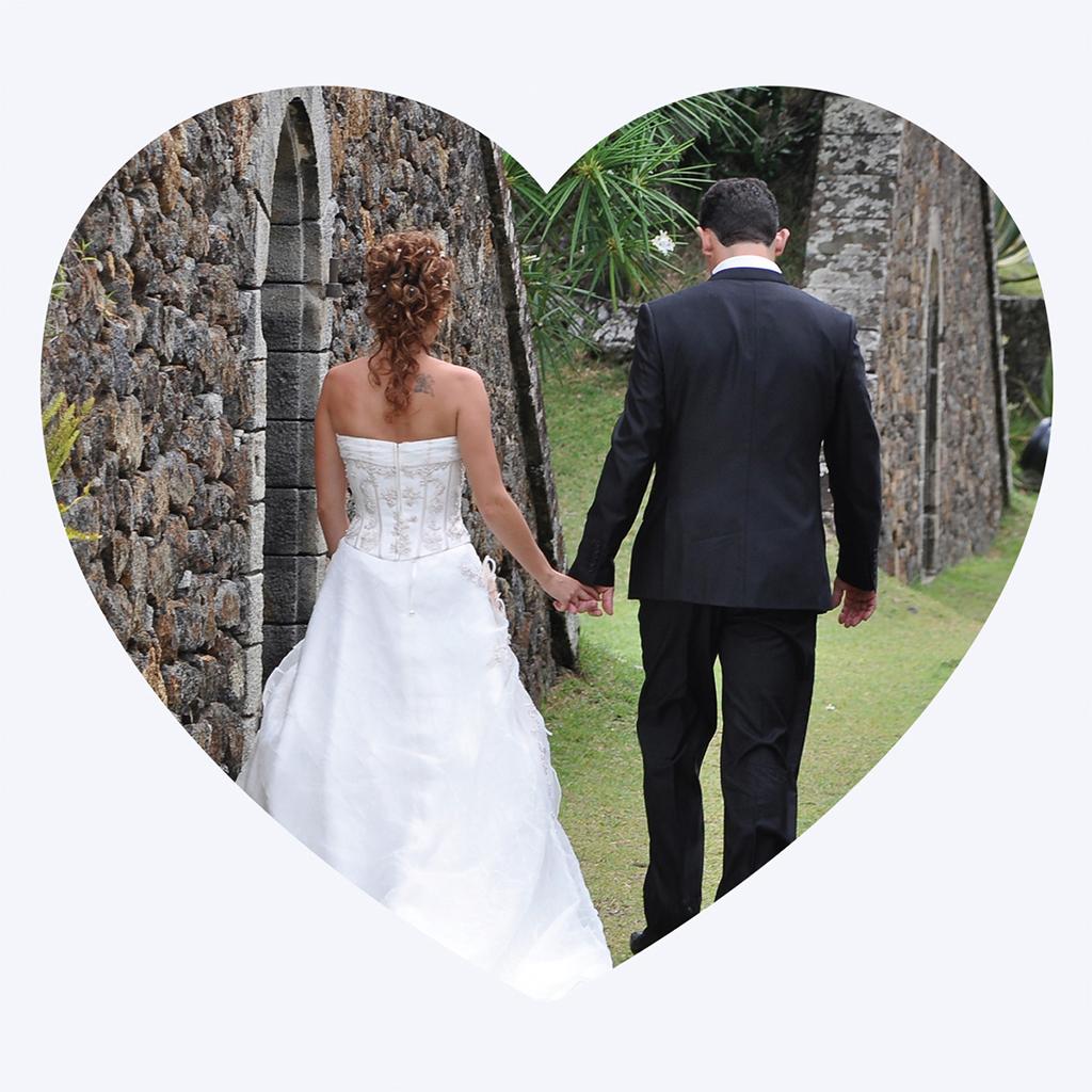 Carte de remerciement mariage Idylle rose pas cher