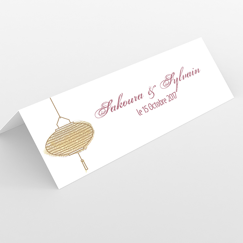 Marque-place mariage Les lampions