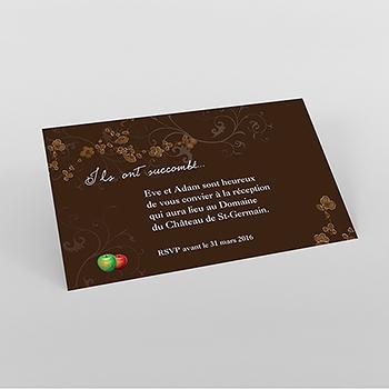 Carte d'invitation mariage Tentation