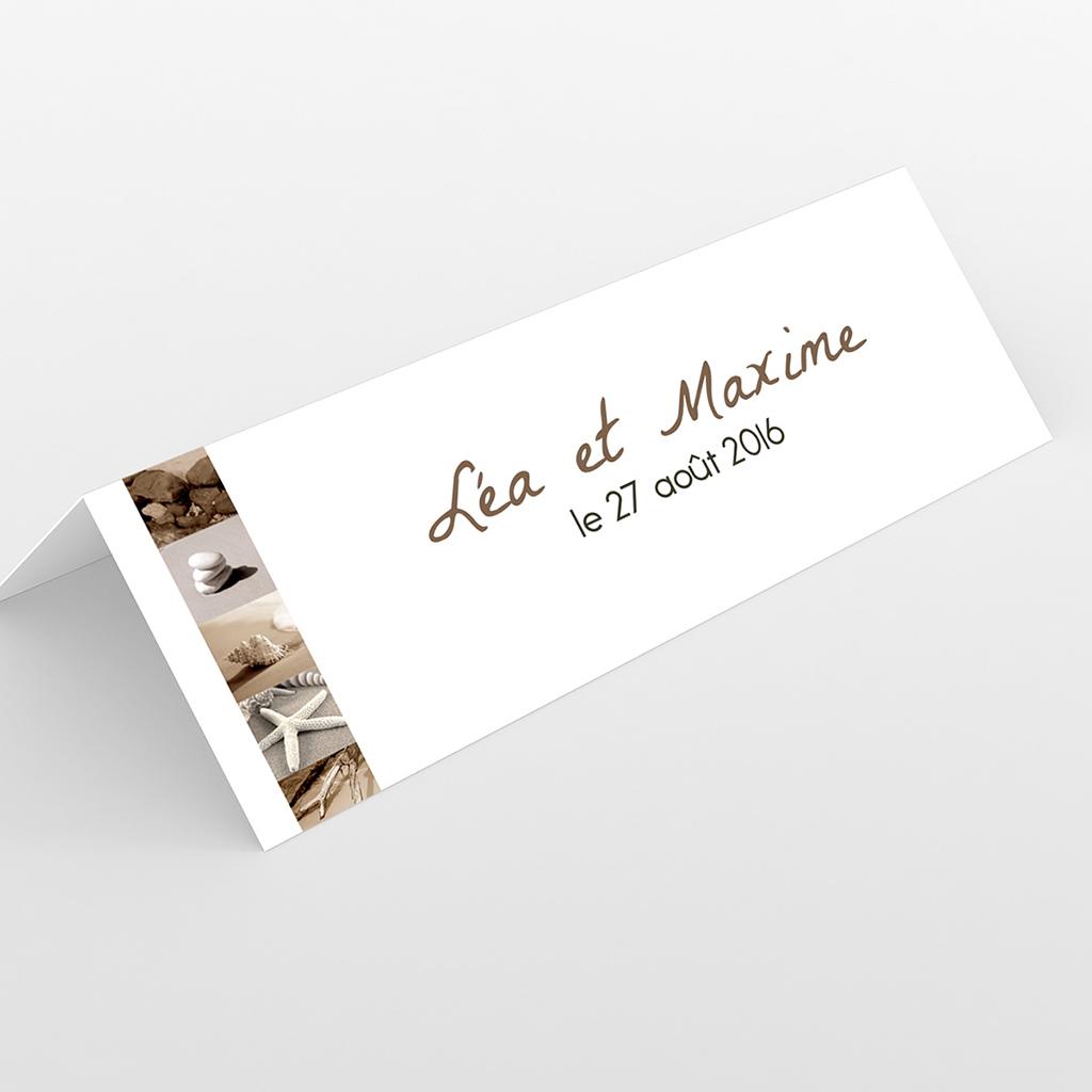 Marque-place mariage La Plage