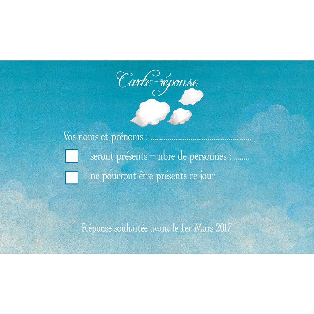 Carton réponse mariage Le Voilier  pas cher