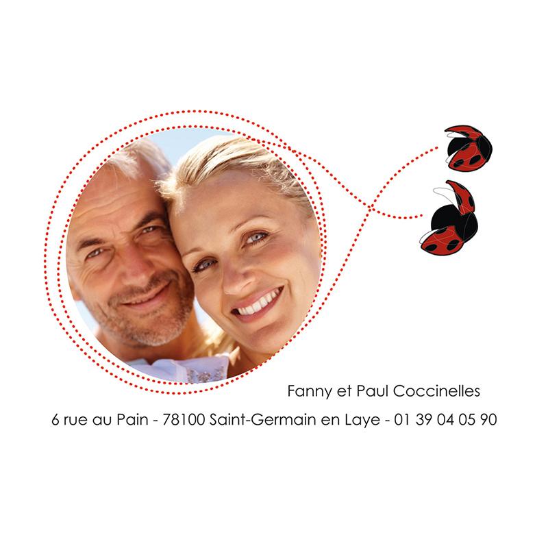 Carte anniversaire de mariage Coeur de coccinelle  gratuit