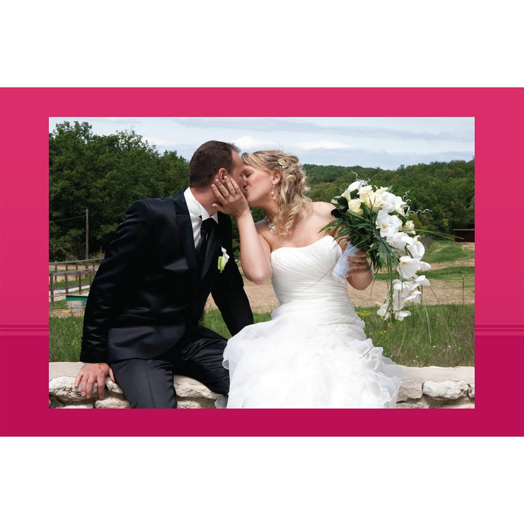 Carte de remerciement mariage Cérémonie rose gratuit