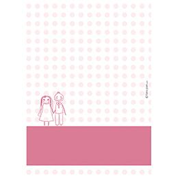 Menu mariage Mots d'enfant rose