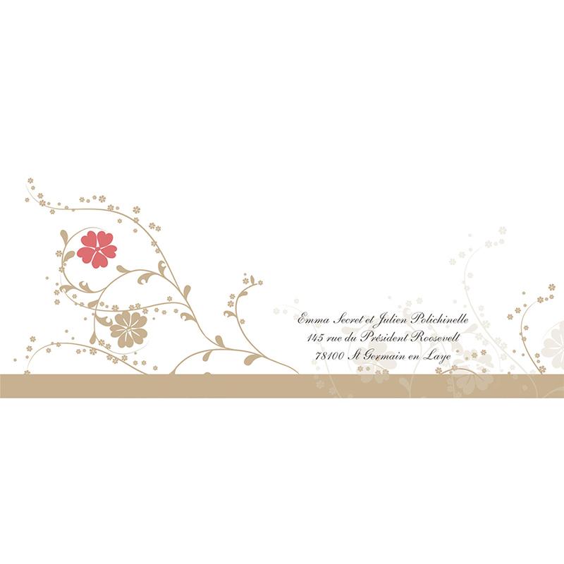 Faire-part de mariage Nuptial doré gratuit