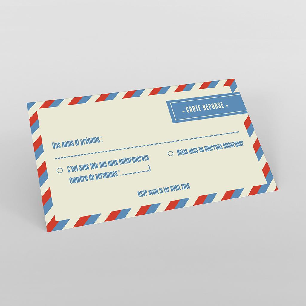 Carton réponse mariage Airlines