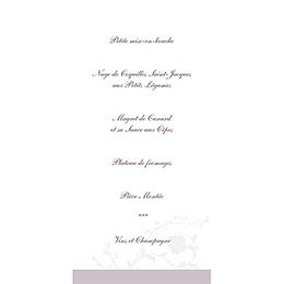 Menu mariage Nuptial gris rose gratuit