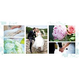 Carte de remerciement mariage Nuptial chocolat turquoise gratuit