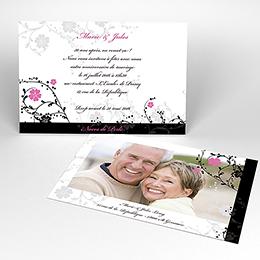 Carte anniversaire de mariage Nuptial noir