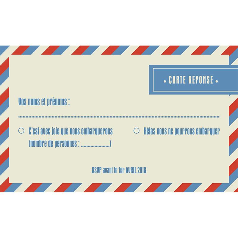 Carton réponse mariage Airlines  pas cher