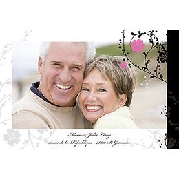 Carte anniversaire de mariage Nuptial noir gratuit