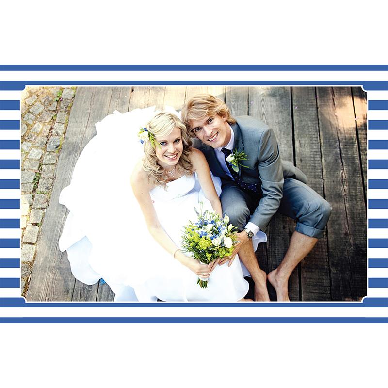 Carte de remerciement mariage Navy chic  gratuit