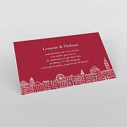 Carte d'invitation mariage Londres