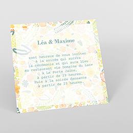 Carte d'invitation mariage Aquarelle