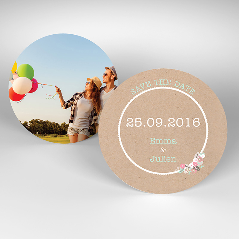 Save-the-date mariage Liberty chic