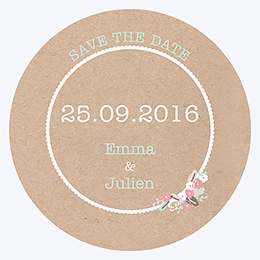 Save-the-date mariage Liberty chic  pas cher