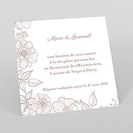 Carte d'invitation mariage Elégance