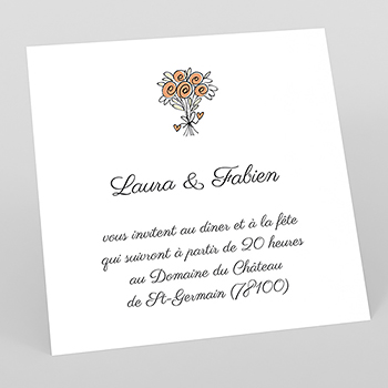 Carte d'invitation mariage Scooter