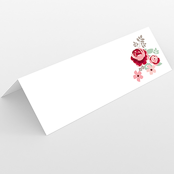 Marque-place mariage Rose Chic