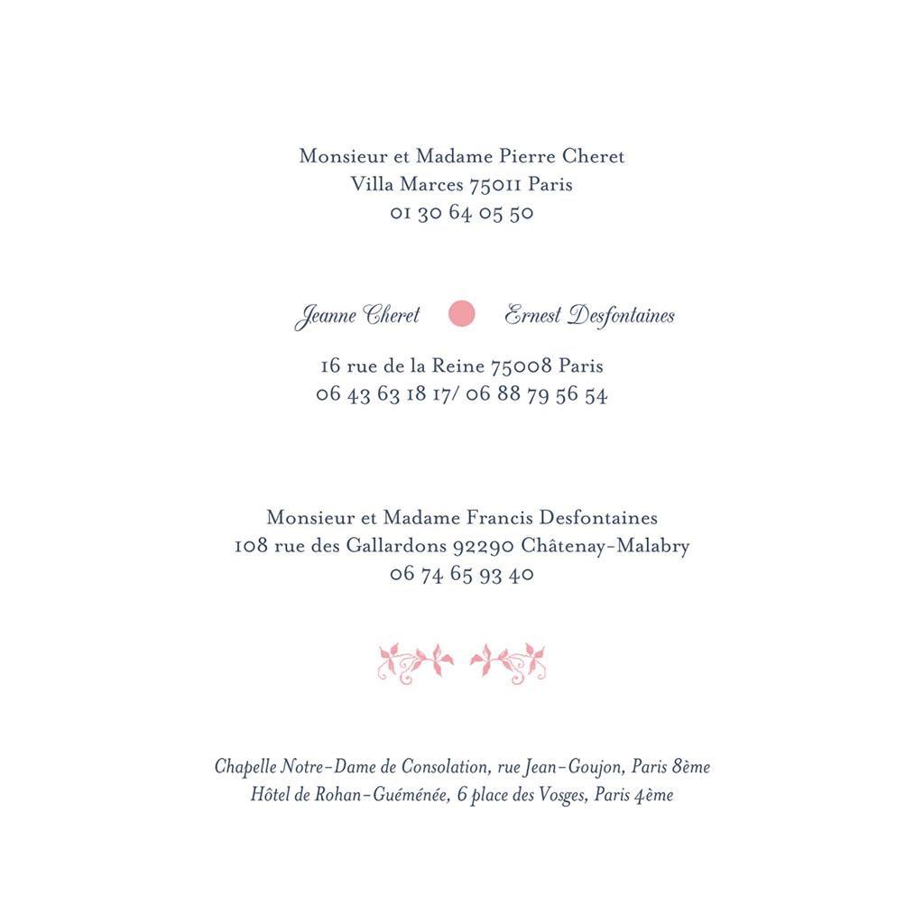 Faire-part de mariage Gris et Rose Poudré gratuit