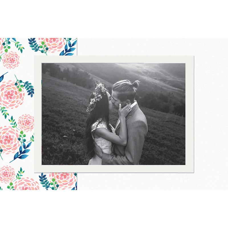 Carte de remerciement mariage Romantic Folk gratuit