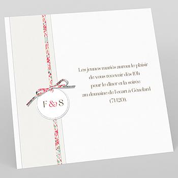 Carte d'invitation mariage Pureté