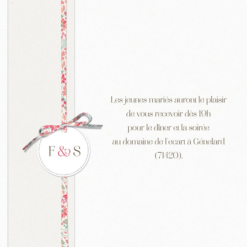Carte d'invitation mariage Pureté pas cher