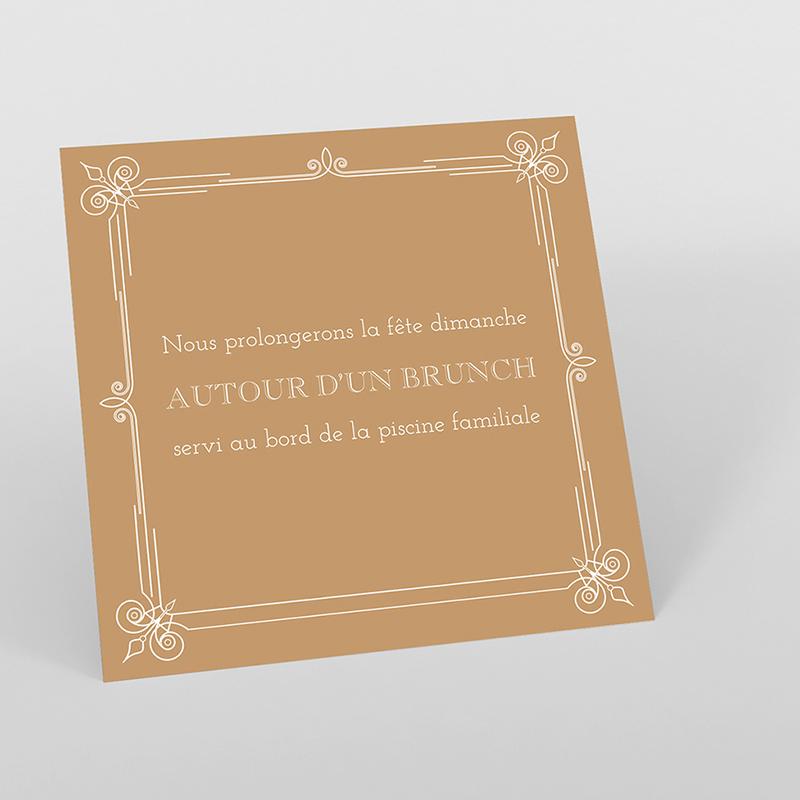 Carte d'invitation mariage Simple et Chic doré