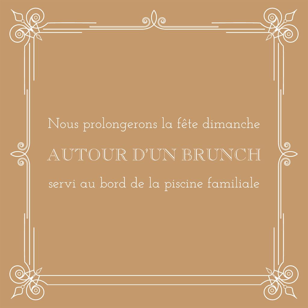Carte d'invitation mariage Simple et Chic doré pas cher