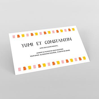 Carte d'invitation mariage Exaltation