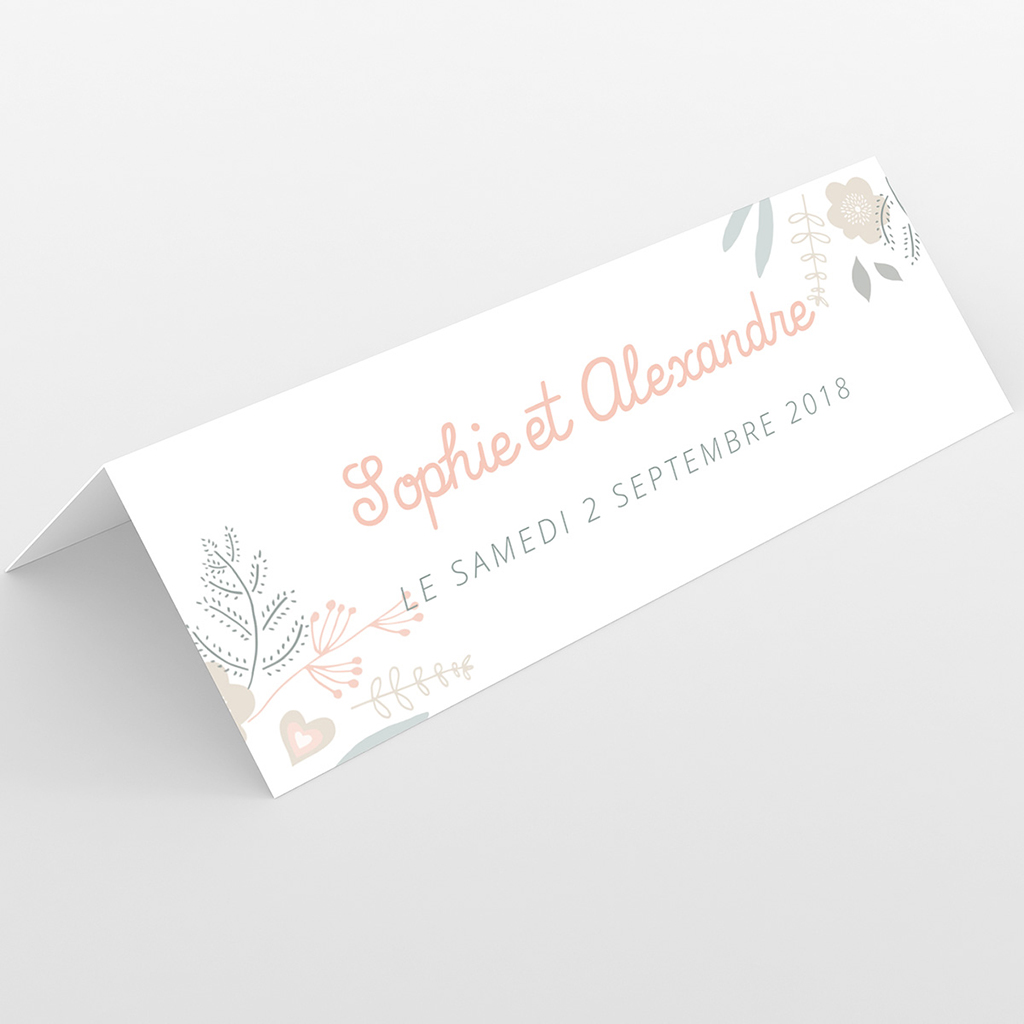 Marque-place mariage Sweet Wedding