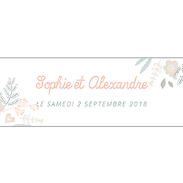 Marque-place mariage Sweet Wedding pas cher