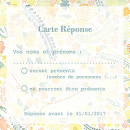 Carton réponse mariage Aquarelle  pas cher