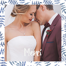 Carte de remerciement mariage Wild Love pas cher