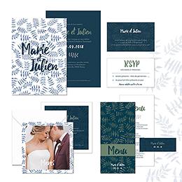 Carte de remerciement mariage Wild Love