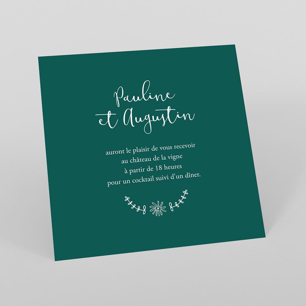 Carte d'invitation mariage Darjeeling
