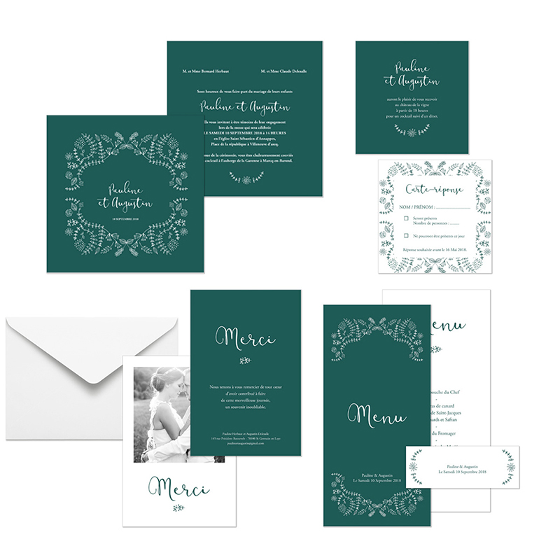 Carte d'invitation mariage Darjeeling gratuit