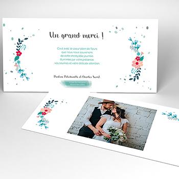 Carte de remerciement mariage Gipsy