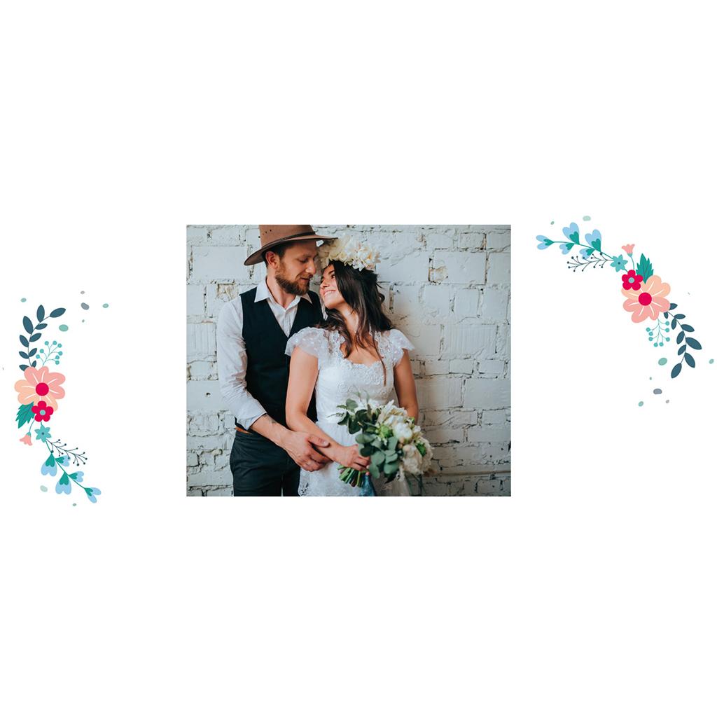 Carte de remerciement mariage Gipsy gratuit