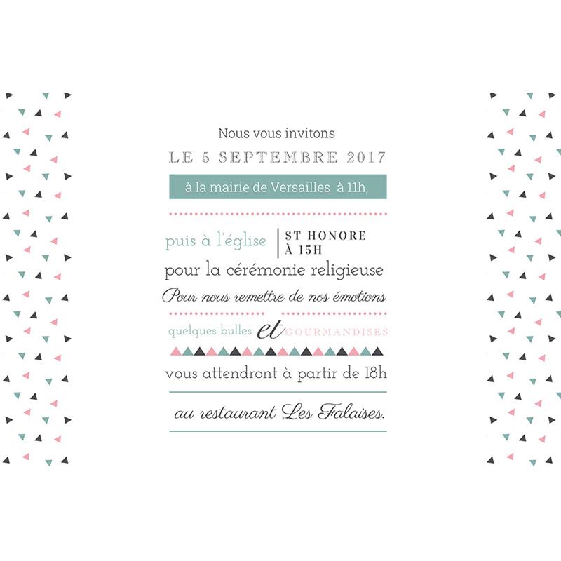 Faire-part de mariage Letterpress Graphic