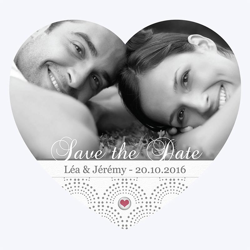 Save-the-date mariage Complicité  pas cher