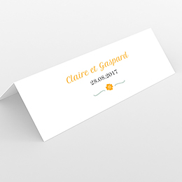 Marque-place mariage Yellow Liberty