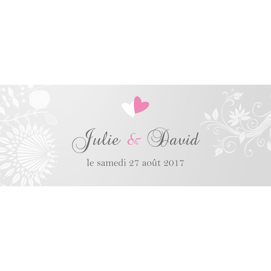 Marque-place mariage Youpi gris tryptique pas cher
