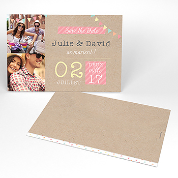 Save-the-date mariage Pretty love story