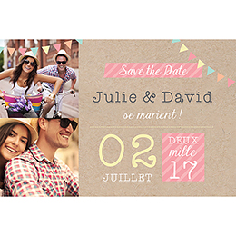 Save-the-date mariage Pretty love story  pas cher
