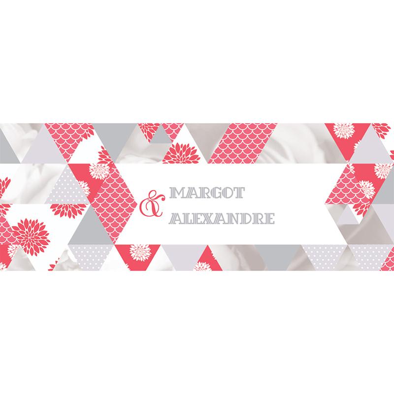 Marque-place mariage Origami gris rose pas cher
