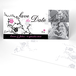 Save-the-date mariage Nuptial noir