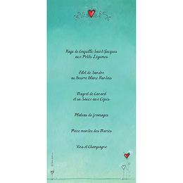 Menu mariage Tendre espièglerie gris vert gratuit