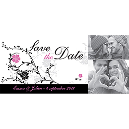 Save-the-date mariage Nuptial noir pas cher